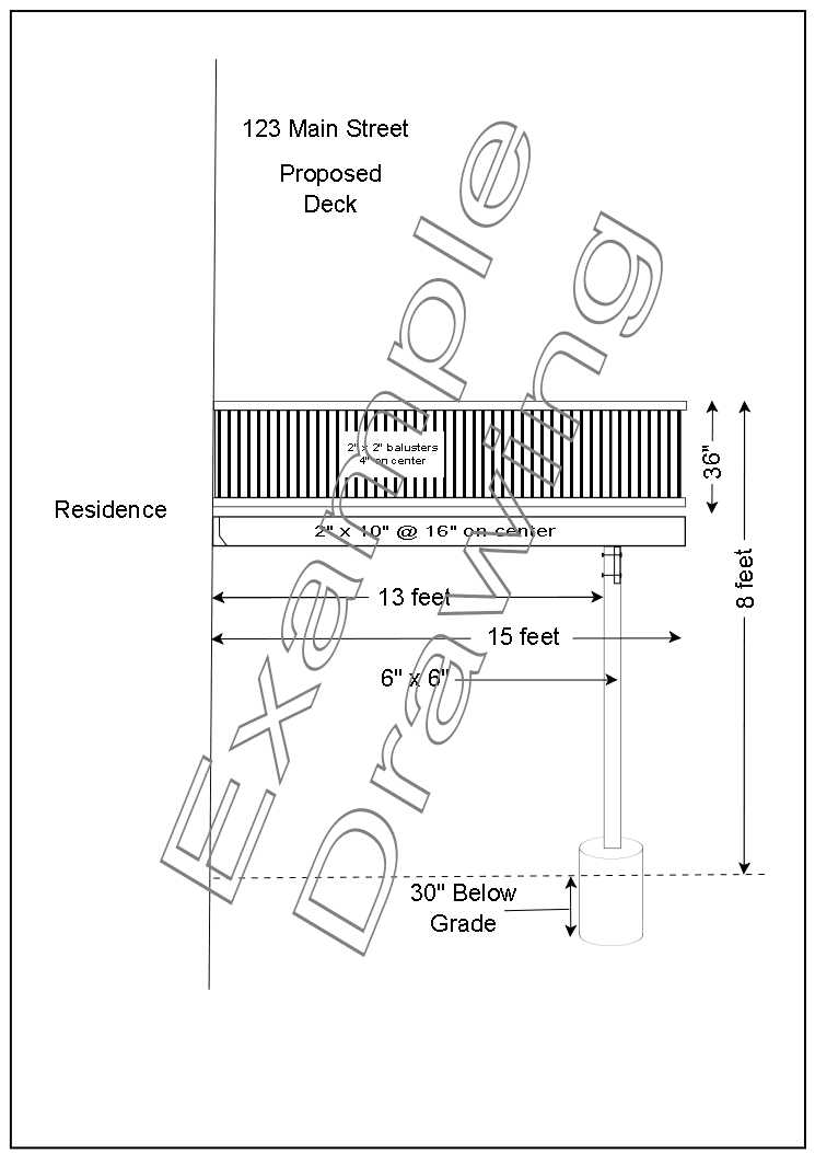 Example Deck Construction Drawing