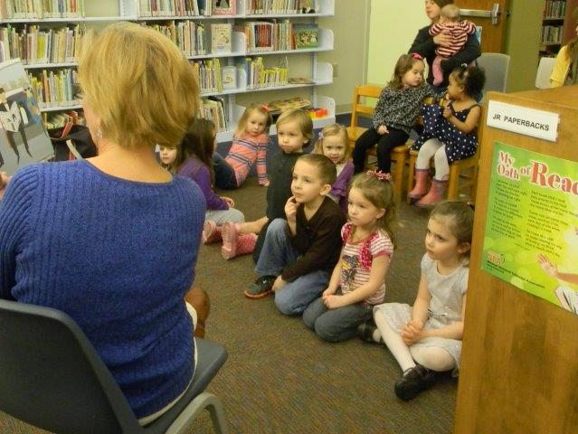 Children sitting for story time
