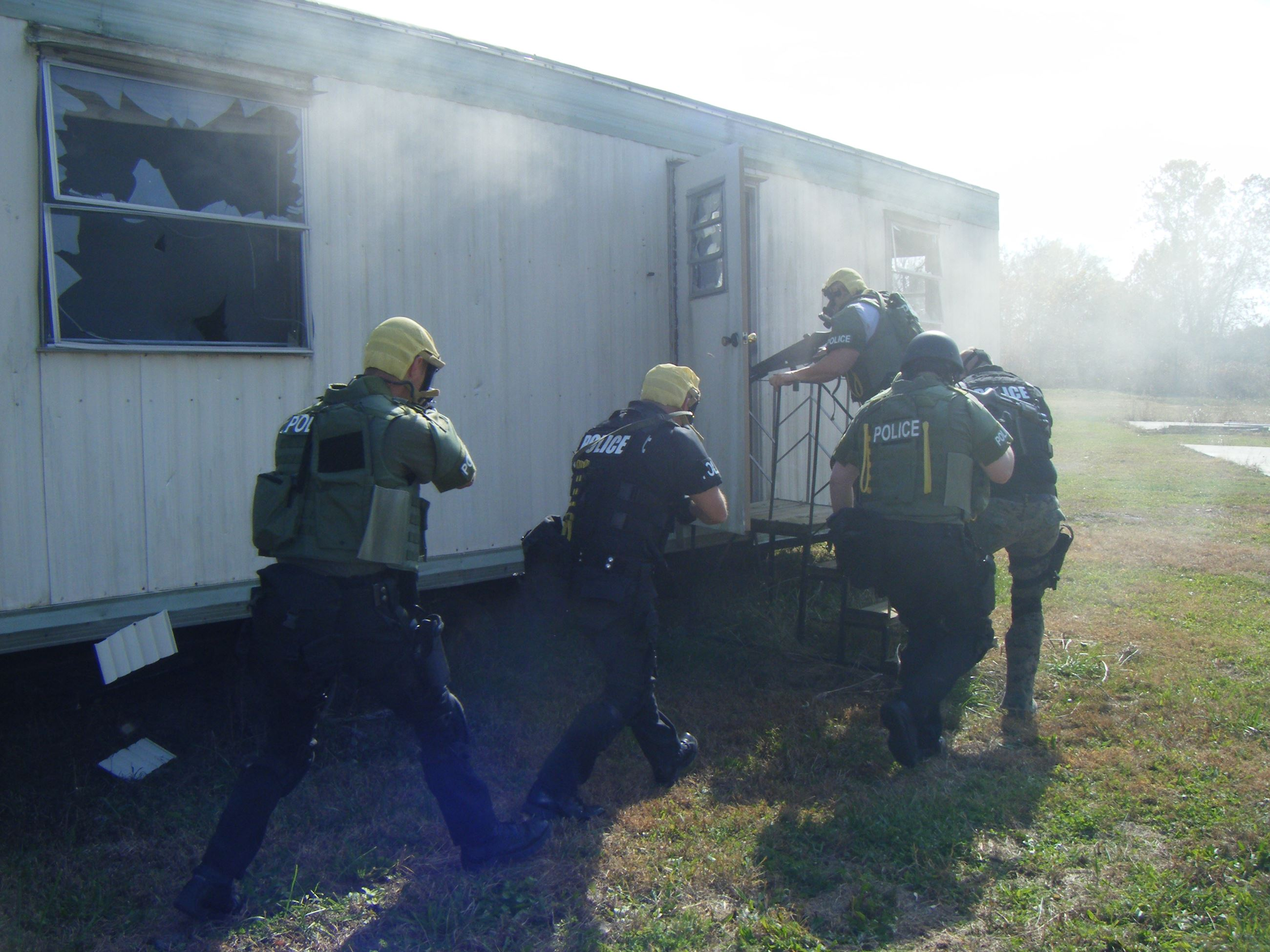 SWAT Team Doing Drills