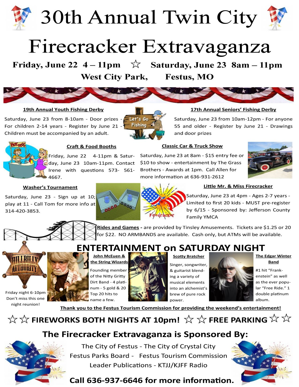 Image of the 2018 Firecracker Festival Brochure